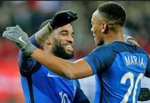 Timnas Prancis coret dua bintang Liga Premier, Alexandre Lacazette (Arsenal) dan Anthony Martial (Manchester United) dari daftar skuad Piala Dunia 2018.