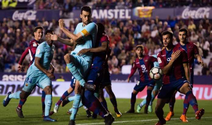 Video Highlights Cuplikan Gol Levante vs Barcelona
