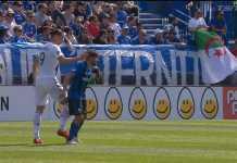 Zlatan Ibrahimovic diusir dari pertandingan LA Galaxy kontra Montreal Impact, Senin (21/5), akibat menampar pemain lawan.
