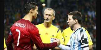 Piala Dunia 2018 akan menyaksikan untuk pertama kalinya pertarungan Cristiano Ronaldo vs Lionel Messi di ajang kompetisi internasional.