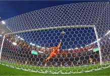 Salah satu gol Kolombia di Piala Dunia 2014