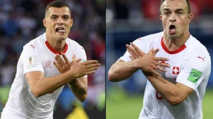 Dua pemain Swiss, Granit Xhaka dan Xherdan Shaqiri, terancam mendapat sanksi larangan bermain terkait selebrasi gol mereka di laga kontra Serbia.