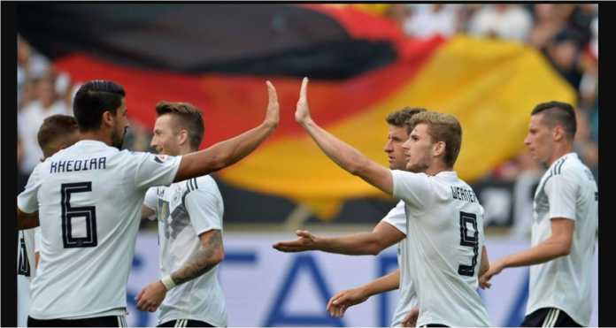 Timo Werner memainkan peran penting pada laga Jerman vs Arab Saudi, Sabtu dinihari, dengan satu gol dan satu assist.