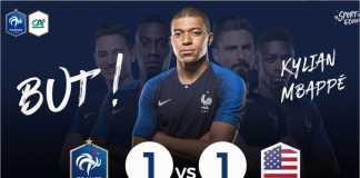 Laga persahabatan Perancis vs Amerika, Minggu dinihari, usai dengan skor 1-1.