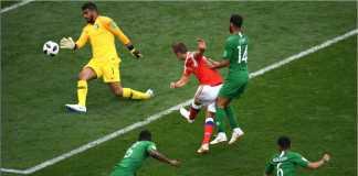 Mantan Real Madrid, Denis Cheryshev, membuktikan diri sebagai pemain berbahaya setelah mencetak gol kedua bagi Rusia saat melawan Arab Saudi pada laga perdana Piala Dunia 2018.
