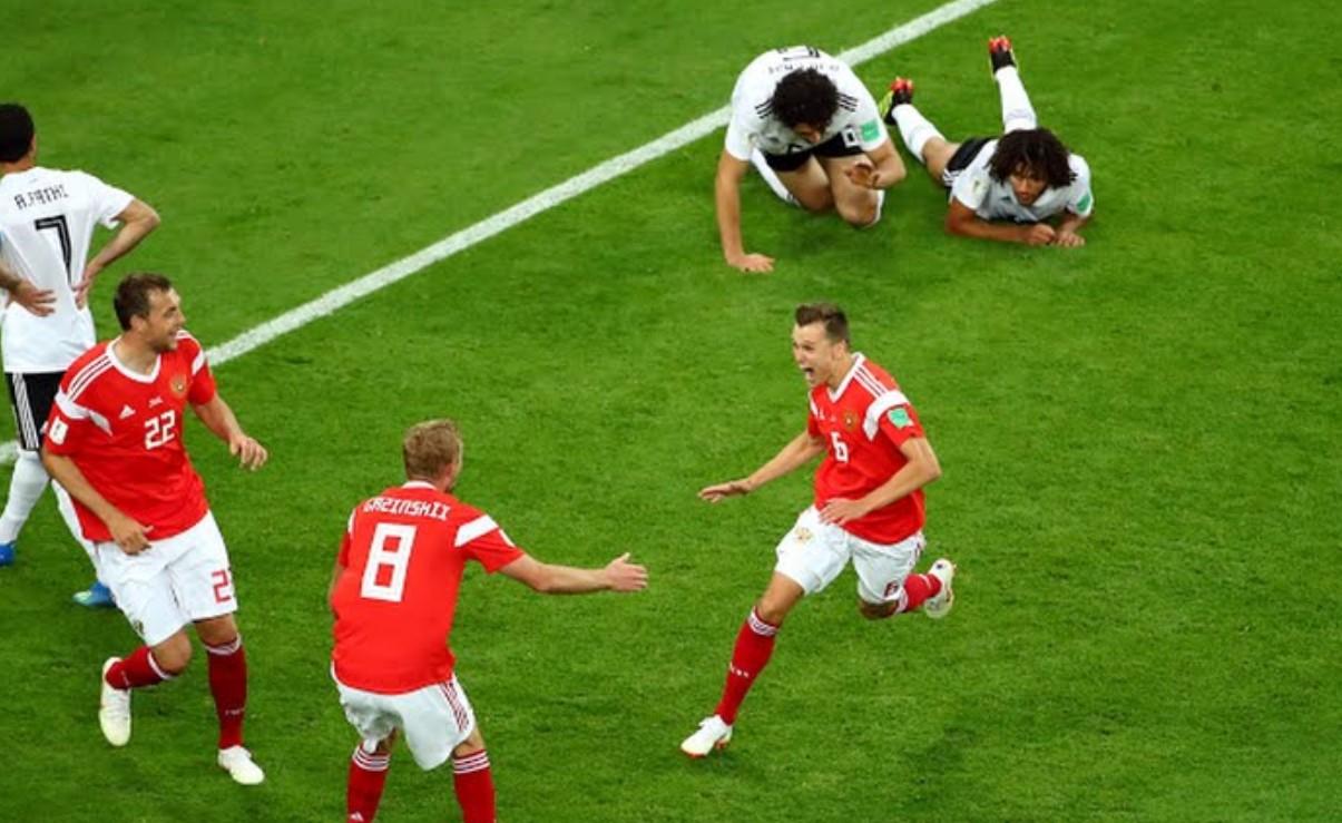 Hasil Rusia vs Mesir, Skor Akhir 3-1