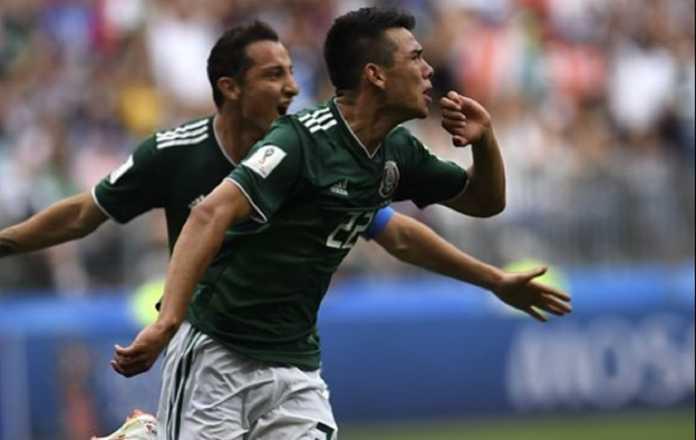 Pemain Meksiko, Hirving Lozano, justru mendapat rating tertinggi dan jadi pemain terbaik di fase pembuka Piala Dunia 2018 versi BBC Sport.
