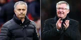 Jose Mourinho dan Sir Alex Ferguson