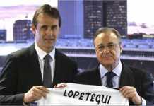 Julen Lopetegui hari Kamis diperkenalkan sebagai pelatih anyar Real Madrid, hanya selang sehari setelah pemecatannya dari skuad timnas Spanyol.