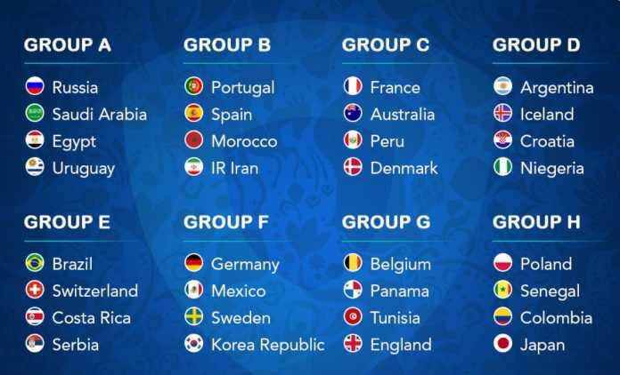 Klasemen Piala Dunia 2018 - Update Terbaru Klasemen Fase ...