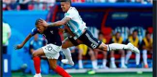 Kylian Mbappe sudah dilanggar sebanyak enam kali sepanjang Piala Dunia 2018 dan tiga di antaranya terjadi selama 20 menit pertama laga lawan Argentina di babak 16 besar.