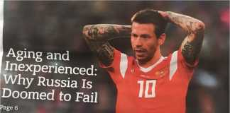 Koran Moscow Times menurunkan laporan yang memedihkan hati soal peluang lolos timnas Rusia ke babak berikutnya di Piala Dunia 2018.