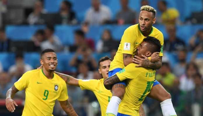 Neymar bersama Skuad Brasil di Piala Dunia 2018