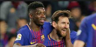 Ousmane Dembele diskusikan masa depannya dengan Lionel Messi, di saat ia dikabarkan dilirik dua raksasa Inggris; Liverpool dan Arsenal.