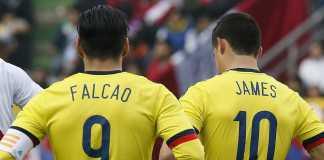 Radamel Falcao dan James Rodriguez, Timnas Kolombia