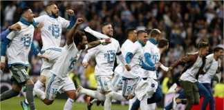 Para pemain Real Madrid merayakan keberhasilan meraih trofi Liga Champions ke-13, bulan lalu.