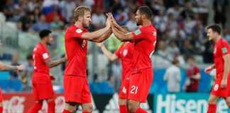 Ruben Loftus-Cheek bersama Harry Kane di laga perdana Timnas Inggris melawan Tunisia - dan jadi pemain yang ingin dihindari Eden Hazard saat Belgia bertemu Inggris akhir pekan ini.
