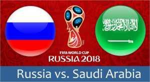 Pertandingan perdana Piala Dunia 2018 akan berlangsung Kamis malam antara tuan rumah Rusia vs Arab Saudi