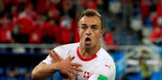 Xherdan Shaqiri, Granit Xhaka dan Stephan Lichsteiner akhirnya selamat dari ancaman sanksi Fifa terkait selebrasi Elang Ganda yang mereka perlihatkan di laga melawan Serbia.
