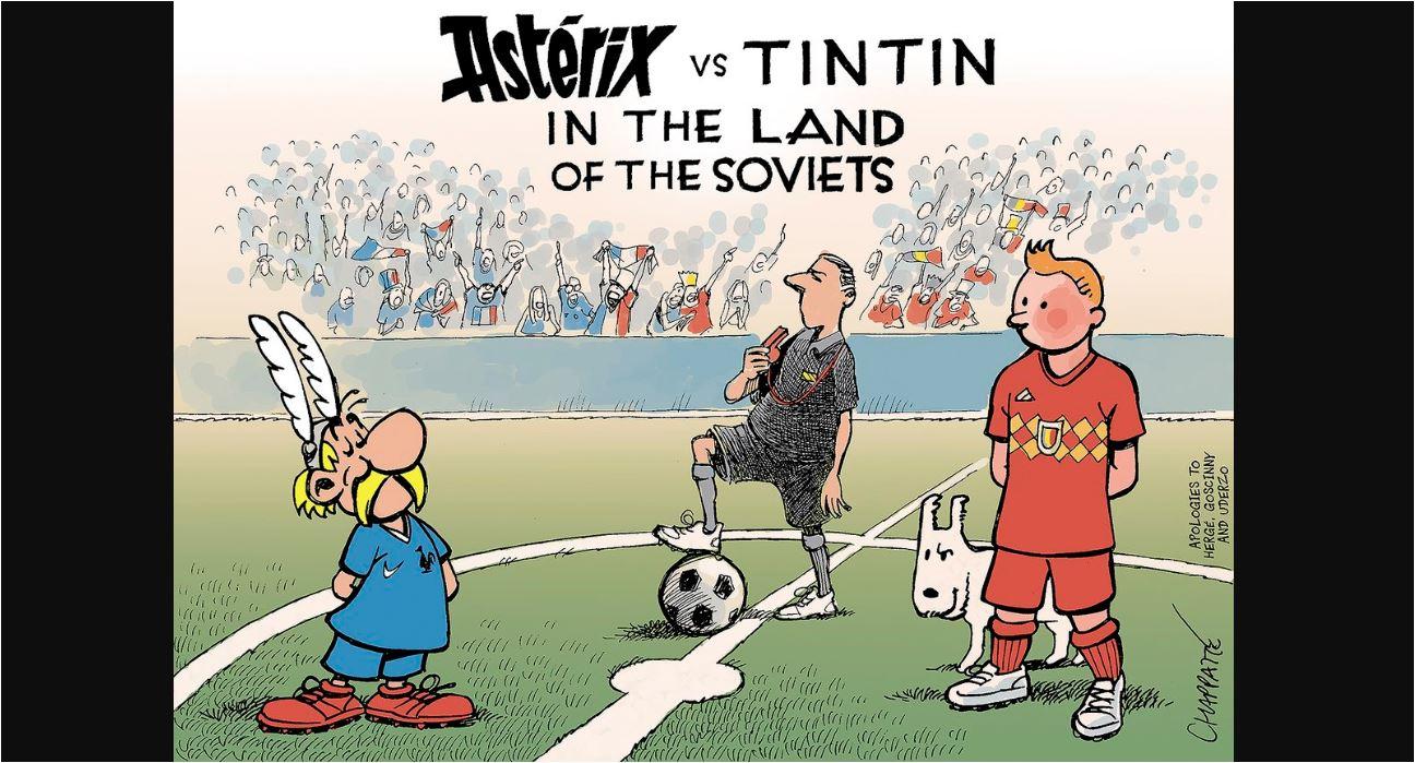 Asterix vs Tintin di Piala Dunia 2018 - Gilabola.com