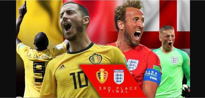 Data head-to-head Belgia vs Inggris sebelum play-off juara ketiga Piala Dunia 2018 menguntungkan The Three Lions.