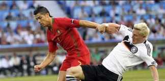 Cristiano Ronaldo berhasil samai rekor penampilan Bastian Schweinsteiger di ajang Piala Dunia dan Euro.