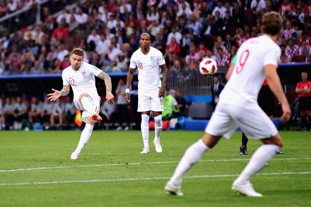 Gol Kieran Trippier, Kroasia vs Inggris, Semifinal Piala Dunia 2018
