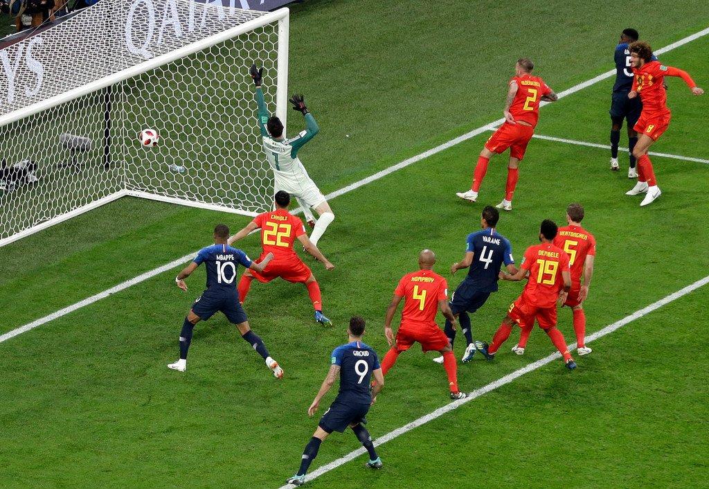 Gol Samuel Umtiti, Prancis vs Belgia, Semifinal Piala Dunia 2018 - 2