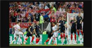 Gol Kieran Trippier pada menit 5 babak pertama terjadi memanfaatkan halangan barisan dinding pemain Kroasia untuk mengirim bola ke pojok kanan atas gawang Danijel Subasic.