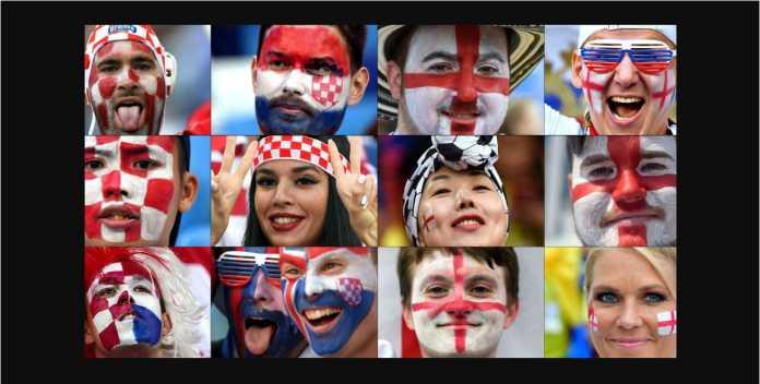 Data head-to-head Kroasia vs Inggris sepanjang sejarah telah mendukung kemenangan bagi Inggris pada laga semifinal Piala Dunia 2018 malam ini.