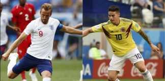 Kolombia bertemu Inggris di babak 16 besar Piala Dunia 2018, Rabu (4/7) dinihari WIB.
