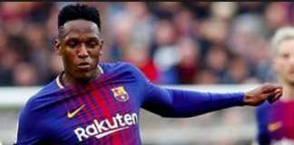 Liga Spanyol - Everton Mulai Kasak-kusuk Dekati Bek Barcelona Yerry Mina.