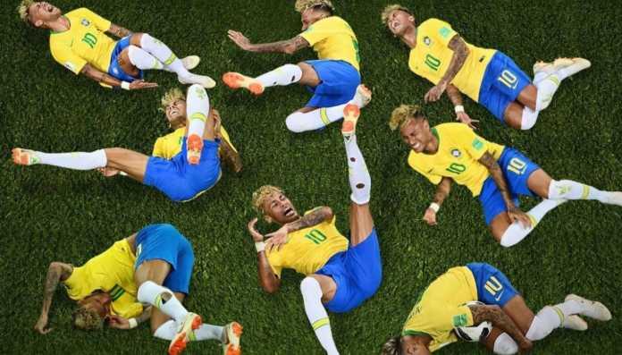 Neymar Diving, Piala Dunia 2018
