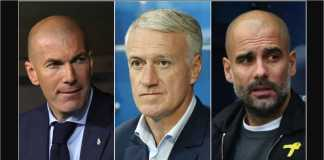 Pelatih Terbaik FIFA: Zinedine Zidane. Didier Deschamps, Pep Guardiola