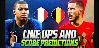 Prancis diprediksikan lebih unggul pada partai semi final Piala Dunia 2018, tapi kalau sampai masuk adu penalti, Belgia diperkirakan menang.