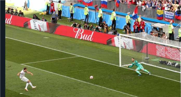 David De Gea hanya mampu menyelamatkan satu saja dari tujuh tembakan ke gawangnya selama Piala Dunia 2018, termasuk saat adu penalti