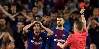 Sergi Roberto bakal absen di final Piala Super Spanyol kontra Sevilla, 12 Agustus nanti, karena harus jalani sanksi larangan bermain di 4 pertandingan.