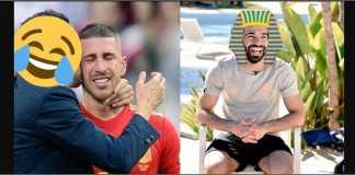 Tak semua sedih melihat Spanyol tersingkir. Rakyat Mesir bergembira melihat kapten Spanyol, Sergio Ramos, menangis, usai tersingkir dari Piala Dunia 2018.