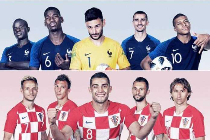 susunan pemain prancis vs kroasia piala dunia 2018