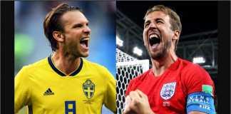 Data head-to-head antara Swedia vs Inggris untuk laga perempat final, Sabtu malam.