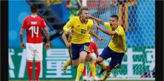 Video Highlights Cuplikan Gol Swedia vs Swiss, 03/07/2018