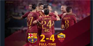 Cuplikan Gol Barcelona vs AS Roma, ICC 2018