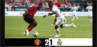 Cuplikan Gol Manchester United vs Real Madrid, ICC 2018