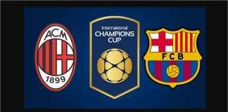Hasil ICC 2018, AC Milan vs Barcelona