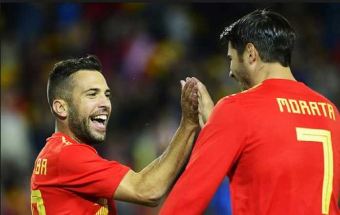 Berita Bola, Timnas Spanyol, Alvaro Morata, Jordi Alba