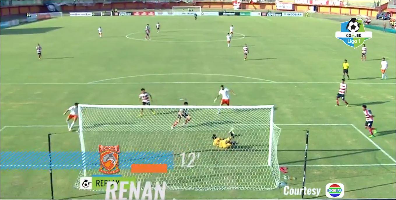 Gol Renan, MU vs Borneo FC