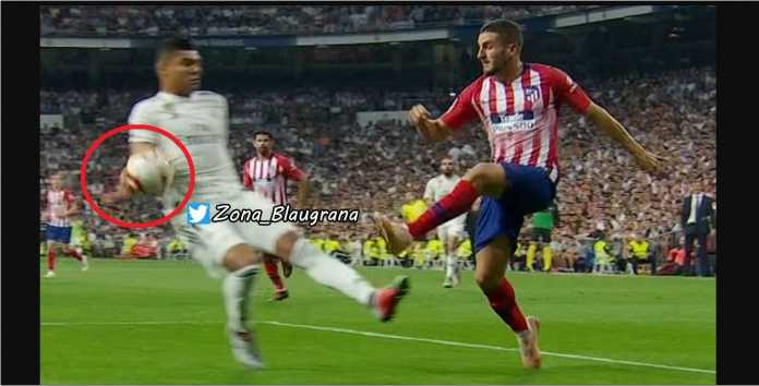 Handball Casemiro, Real Madrid vs Atletico Madrid