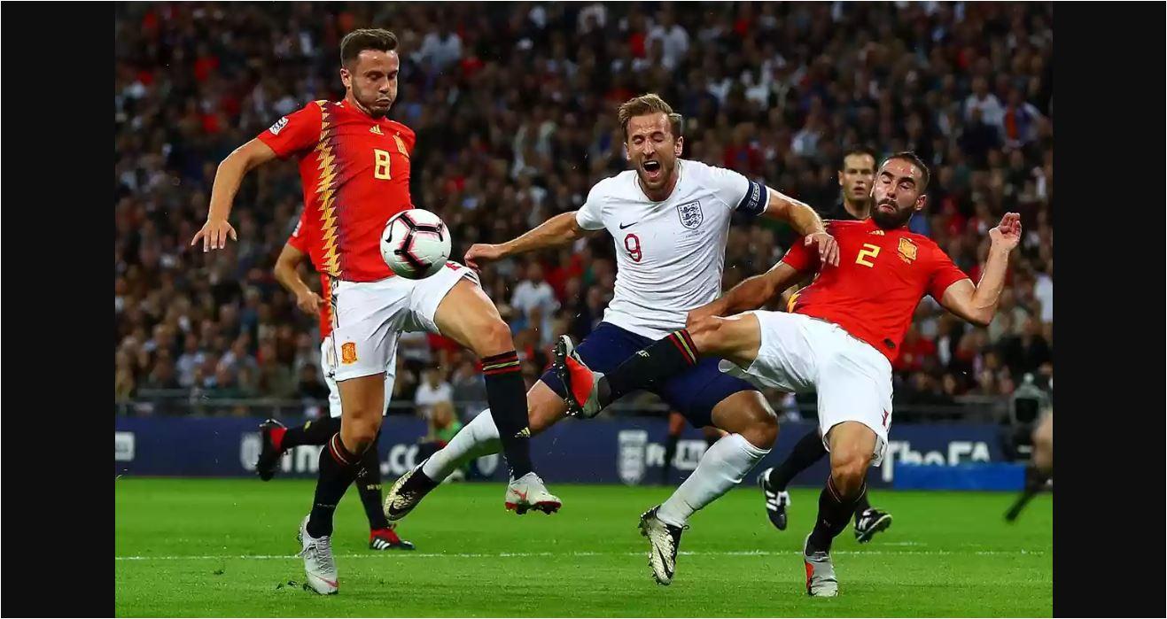 Harry Kane Pelanggaran Inggris Vs Spanyol