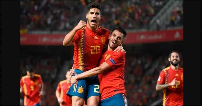 Marco Asensio, Spanyol vs Kroasia, UEFA Nations League