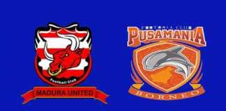 Hasil Madura United vs Borneo FC